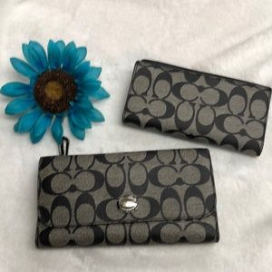 Coach wallet and check holder